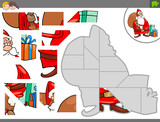 jigsaw puzzle game with Christmas Santa - 233026892