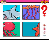 activity game with sea life animals - 233027062