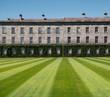 Leinwanddruck Bild - Rasen mit Muster vor dem Trinity College in Dublin