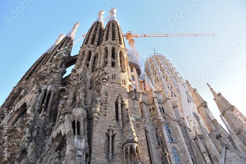 fototapeta na ścianę Sagrada Familia catedral in Barcelona, Spain