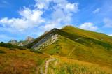 Hiking trail on the mountain ridge, High Tatras, Slovakia