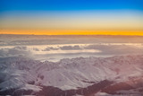 aerial of the Himalaya in morning light - 233064224