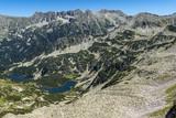 Amazing Landscape of Vasilashki lakes and Polezhan peak, Pirin Mountain, Bulgaria