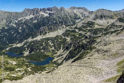 Amazing Landscape of Vasilashki lakes and Polezhan peak, Pirin Mountain, Bulgaria
