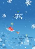 Merry Christmas Landscape / Christmas illustration - 233096462