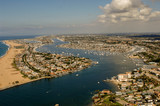 Newport Beach California harbor from air - 233103223