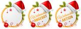 Weihnachten Aktion Angebot Buttons Vektor Set freigestellt - 233105857