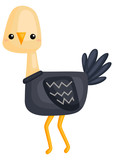a vector of a cute and adorable ostrich  - 233117892