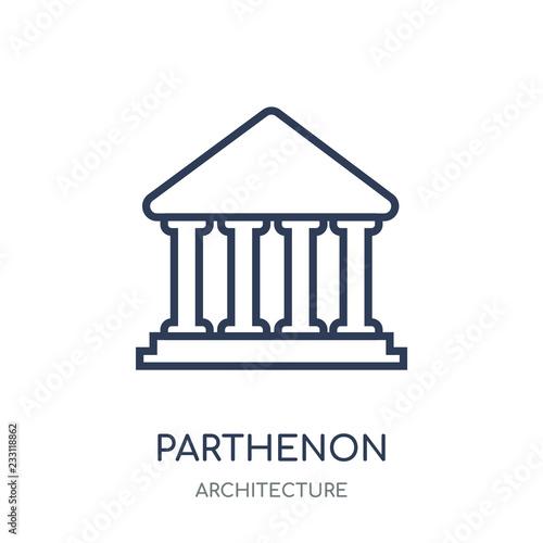 Parthenon Icon Parthenon Linear Symbol Design From Architecture