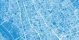 Urban vector city map of Saitama, Japan
