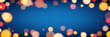 Blue shiny banner with blurred lights. - 233148423
