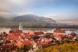 Panorama of Duernstein village with castle during autumn in Austria - 233152058