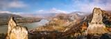 Panorama of Duernstein village with castle during autumn in Austria - 233152238