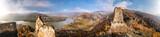Panorama of Duernstein village with castle during autumn in Austria - 233152401
