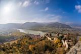Panorama of Duernstein village with castle during autumn in Austria - 233152648