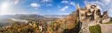Panorama of Duernstein village with castle during autumn in Austria - 233152690