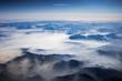 Landschaft aus dem Flieger