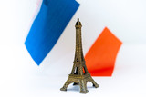 Metal Eiffel Tower (nickname La dame de fer, the iron lady),The tower has become the most prominent symbol of both Paris and France - 233157659