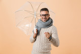 Portrait of a cheerful man dressed in sweater - 233160254