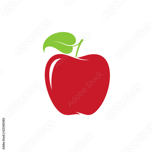 Apple. Red fruit on white background - 233165483