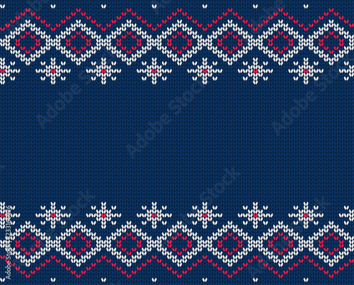 Knitted seamless pattern. Vector ornament