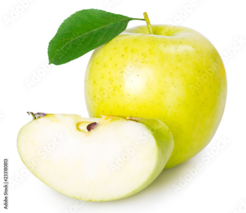 Fresh apple on white background - 233180813