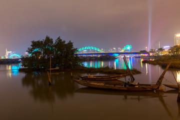 Dragon Bridge (Cau Rong) in Danang Vietnam.