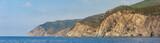 Dramatic cliffs of the Ligurian coastline, just outside of Moneglia, Italy