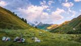 Svaneti mountains landscape in Georgia