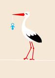 Tall Stork Blue Pacifier Beige