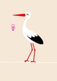 Tall Stork Pink Pacifier Beige