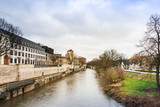 HANNOVER, GERMANY- March 13, 2018 : Street view of downtown in Hannover, Germany.