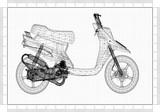 Scooter Design Architect Blueprint  - 233218832