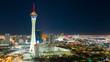 Aerial View Downtown City Skyline Urban Core Las Vegas Nevada