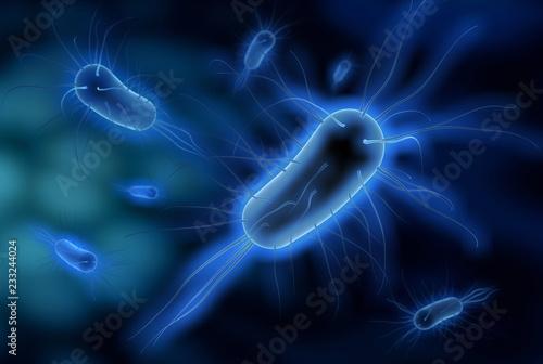 Leinwanddruck Bild Bakterien - 3d Illustration