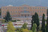 Athens Greece, the national parliament neoclassical building on syntagma square - 233244493