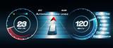 dashboard of autonomous car-concept.3d illustration - 233254086