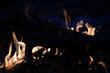Leinwanddruck Bild - flammendes Feuer