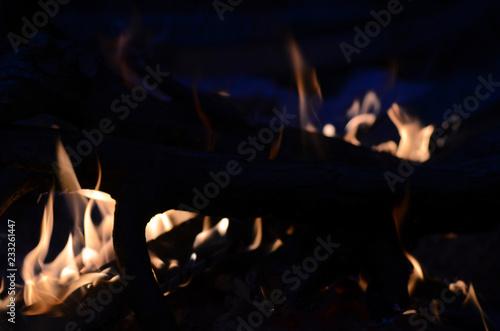 Leinwanddruck Bild flammendes Feuer
