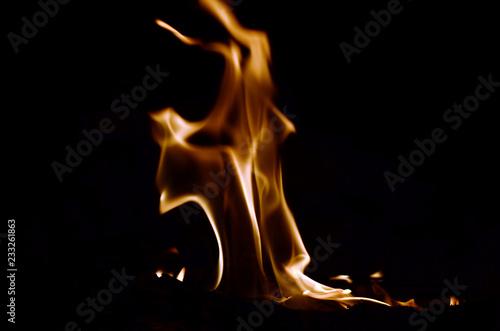 Leinwandbild Motiv flammendes Feuer