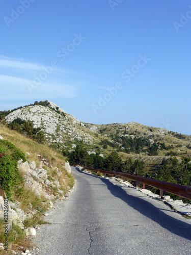 Leinwandbild Motiv Die Straßezum Gipfel im Nationalpark Biokovo