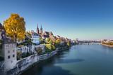 Alt Basel im Herbst, von der Wettsteinbrücke aus gesehen. - 233268010