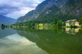 Scenery at Grundlsee lake in Alps mountains, Austria - 233280425