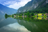 Scenery at Grundlsee lake in Alps mountains, Austria - 233280448