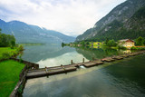 Scenery at Grundlsee lake in Alps mountains, Austria - 233282246