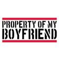 balken logo Property of my boyfriend warnung hinweis eigentum freund freundin paar liebe verliebt 2 team pärchen lustig spruch text - 233310687