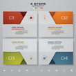 4 steps infographics element template chart for presentation.
