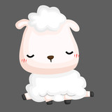 a vector of a cute and adorable sheep - 233323690