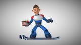 Fun superhero - 3D Animation - 233324441