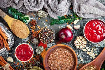 Spices and condiments for food © Karnav